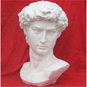 大卫 膏头像31cm空心石膏素描像 美术石膏像速写人像 大卫
