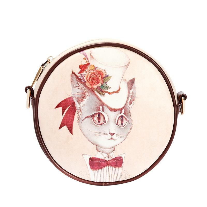 包包2014新款潮韩版时尚复古单肩包可爱卡通手机包甜美斜挎包_宫廷猫