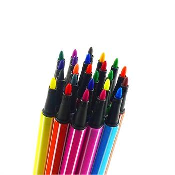 芭比儿童彩色幼儿卡通绘画工具画笔/可水洗水彩笔