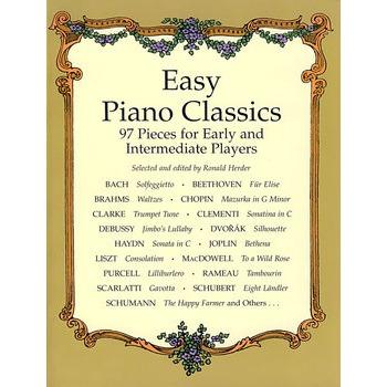 Easy Piano Classics给初学者或中级学者的简易古典钢琴曲谱104首