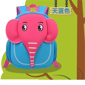 申派儿童书包 卡通小孩子包学生背包男 女韩版幼儿旅行包 小象头