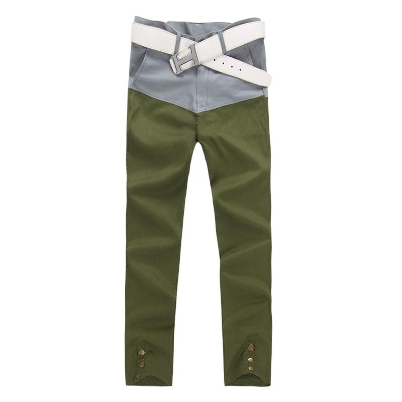 男军绿直筒裤搭配