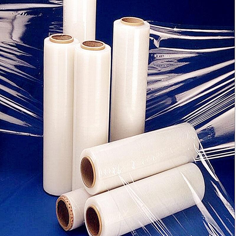 pe拉伸膜 缠绕膜 工业包装膜50cm宽 3kg 塑料薄膜