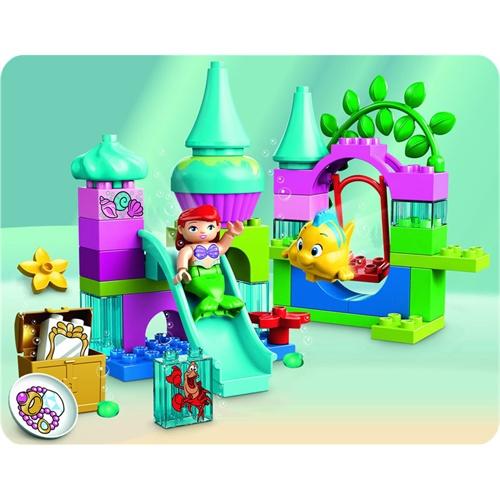 lego 乐高 duplo得宝迪士尼系列 美人鱼爱丽儿的海底城堡 l10515