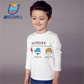 儿童长袖童装男童t恤圆领可爱卡通小孩衣服男生2014新款韩版秋装tx109