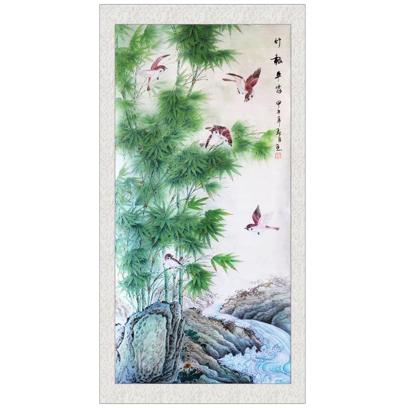 手绘竹子 画图片