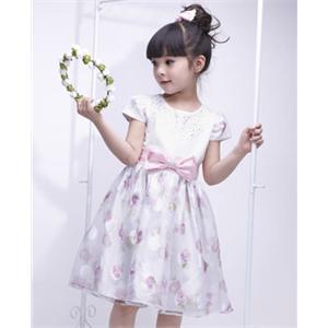 大合唱舞蹈服中小学生少儿童表演出服装女童公主套裙 (300x300)