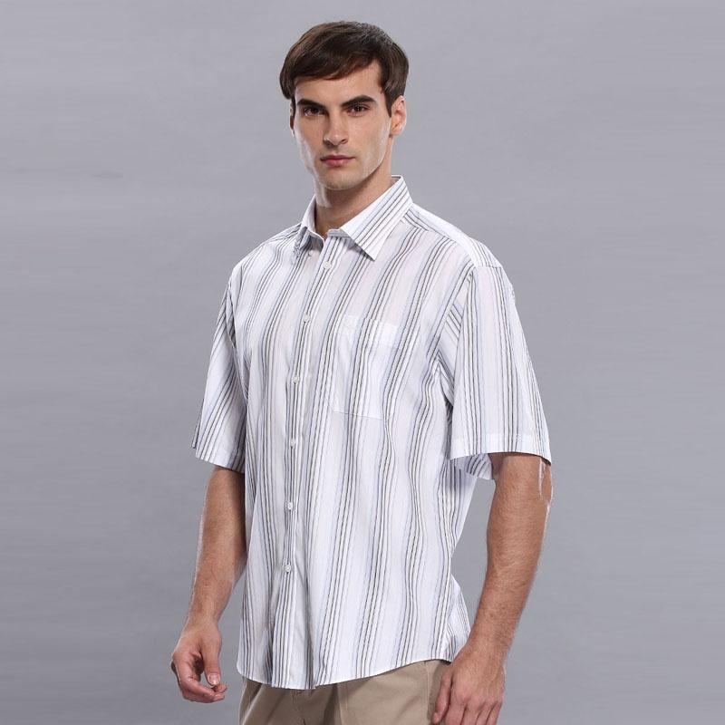 圣大保罗 正品男装 短袖衬衫 商务休闲 纯棉 条纹绅士|ps8wh134_22,40