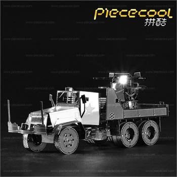 拼酷3d金属拼装模型立体拼图手工制作军事模型美军m35防空卡车