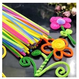 彩色毛根毛条扭扭棒 diy美术 幼儿园儿童手工制作