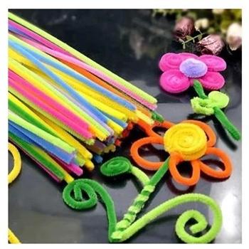 彩色毛根毛条扭扭棒 diy美术 幼儿园儿童手工制作毛绒条