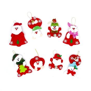 盛泉圣诞老人圣诞小公仔圣诞节装饰装扮圣诞树挂件一