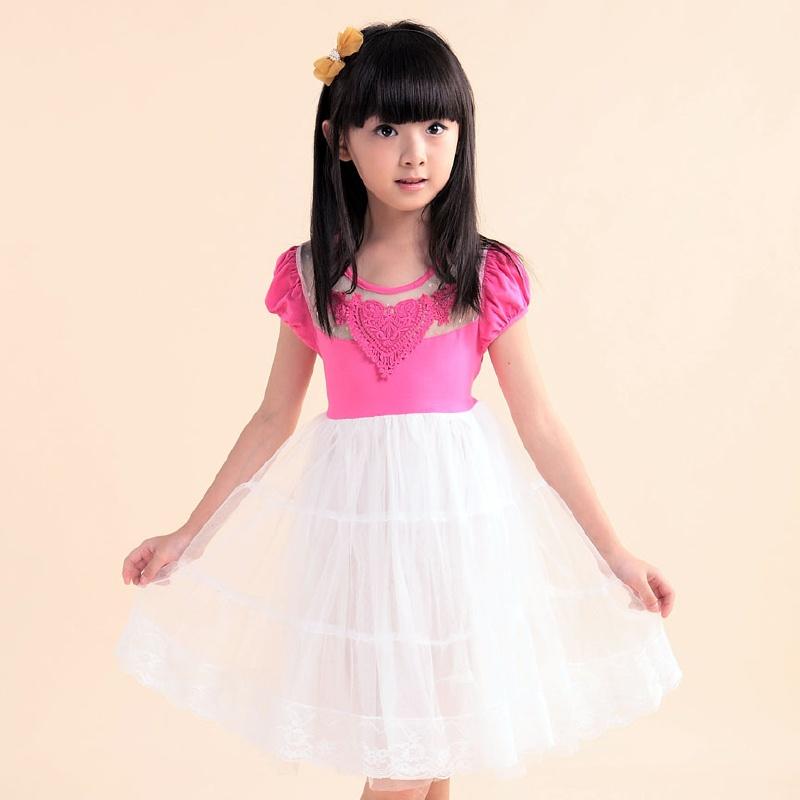 夏季童装韩版纯棉儿童连衣裙夏装女童背心裙 女孩公主甜美短裙子