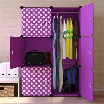 家里人組合式創意簡易兒童簡易衣柜 宜家居家自由diy卡通收納柜v020