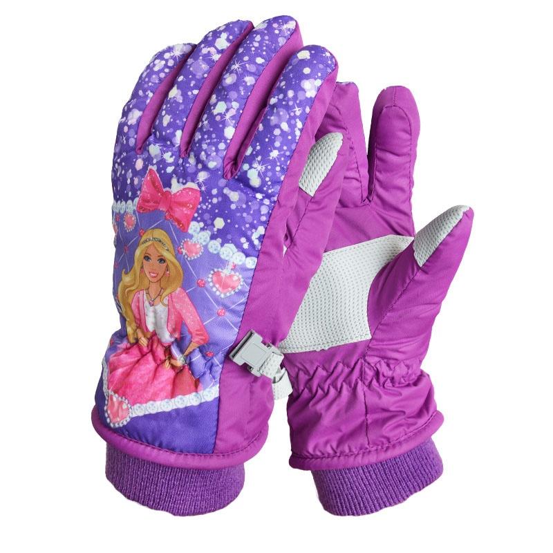 冬季防寒滑雪手套加厚 儿童可爱防水手套女孩