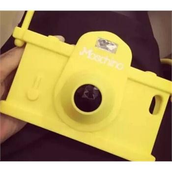 立体照相机iphone6 plus手机壳挂绳 苹果6硅胶套 5/5s手机套潮女