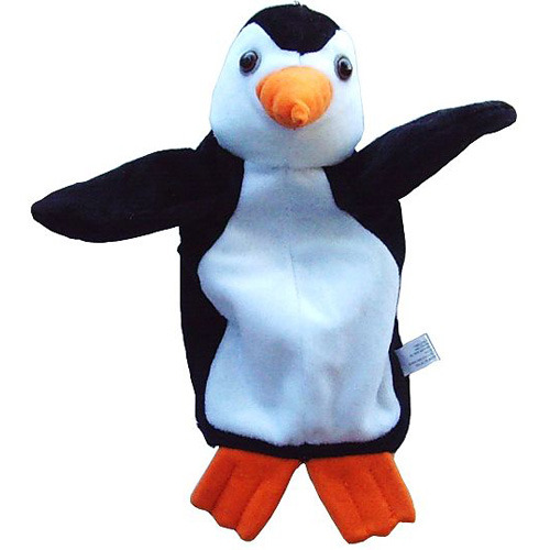 可爱小企鹅手偶-黑白色