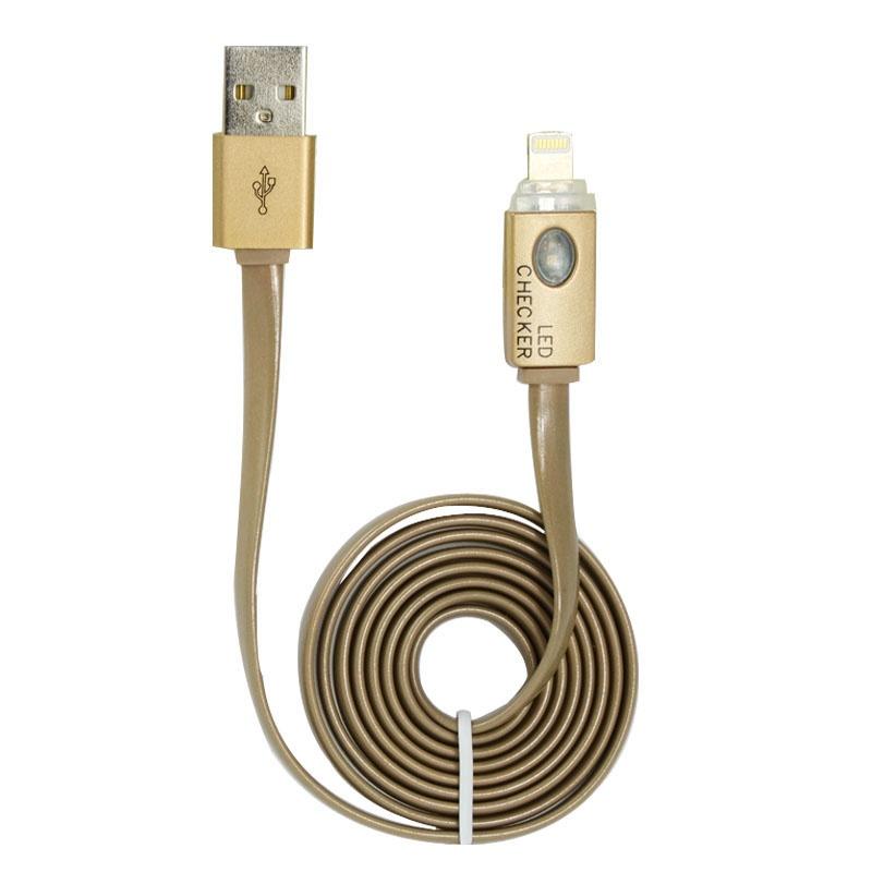 风彩iphone6/5/5s led智能灯控数据线 苹果6/5/5s智能发光led充电线