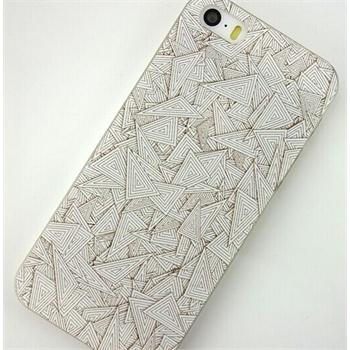 苹果5case素色黑白线条三角几何iphone4s|5s个性手机外壳