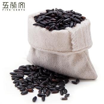 五分文 黑米350g/袋 东北特产黑米 五谷杂粮图片