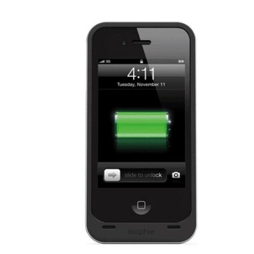 mophie juice pack air iphone4s/4手机 背夹电池果汁包_磨砂质感黑色