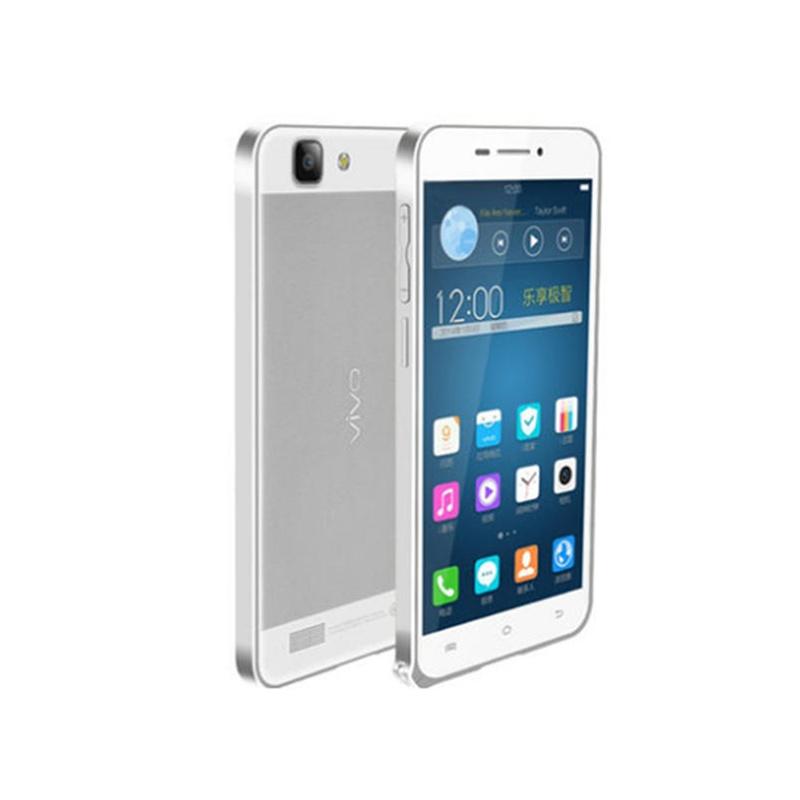 vivo步步高x3t手机壳 vivo x3超薄金属边框 x3t海马扣手机保护套_银色