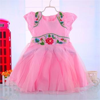 童装女童连衣裙儿童裙子夏宝宝公主裙蓬蓬裙小女