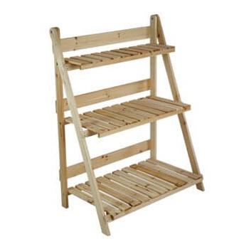 架实木质木制花盆架书架