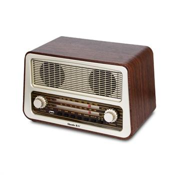 燊乐(shenle) 木质老式复古收音机 插u盘手机 全波段老人仿古台式收音
