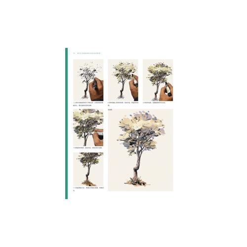 最手绘--园林景观马克笔手绘步骤详解