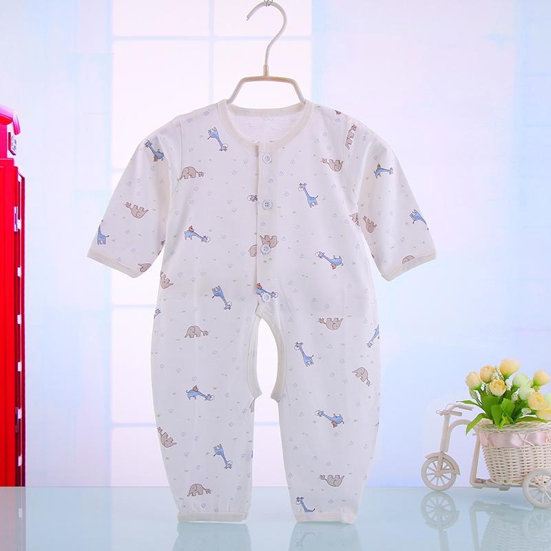 90 婴儿连体衣服夏季宝宝包屁衣造型衣新生儿纯棉宝 22.
