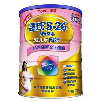 惠氏(Wyeth) S-26 爱儿乐金装孕产妇奶粉 900g ¥98.5