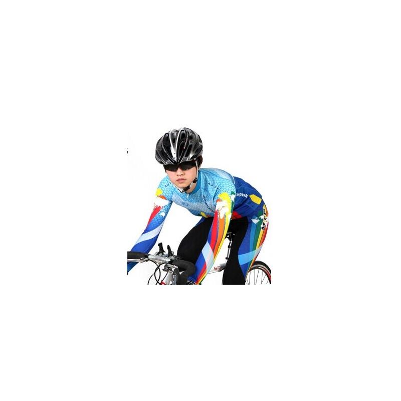【诺诗兰娜运动套装】新款死飞自行车骑行服长袖套装