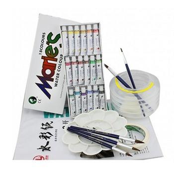 【与同办公文具】水彩6件套装马利18色水彩颜料