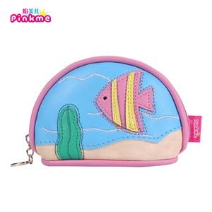 pinkme儿童零钱包可爱小公主钱包女童海洋系列小包包