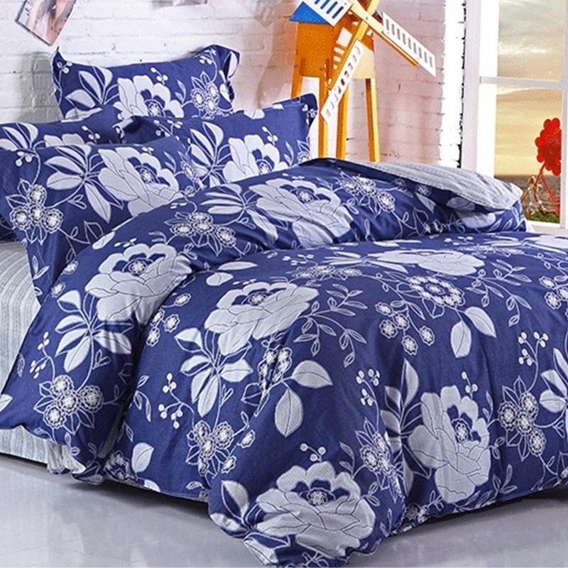 蓝色印花大气花朵