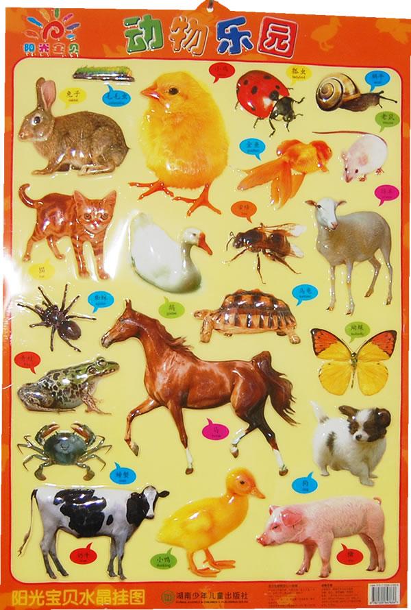 阳光宝贝水晶挂图——动物乐园