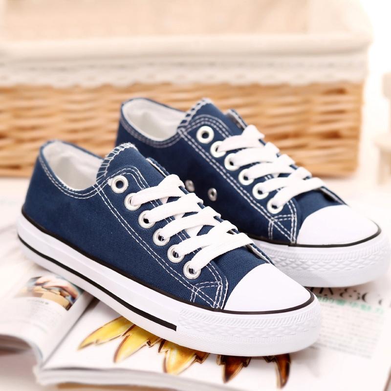 娅莱娅 秋季经典平底系鞋带帆布鞋 学生鞋休闲舒适低帮布鞋板鞋女