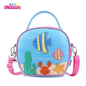 pinkme韩版儿童斜挎包公主可爱手拎包女童童话海洋鱼系列包包3004-088