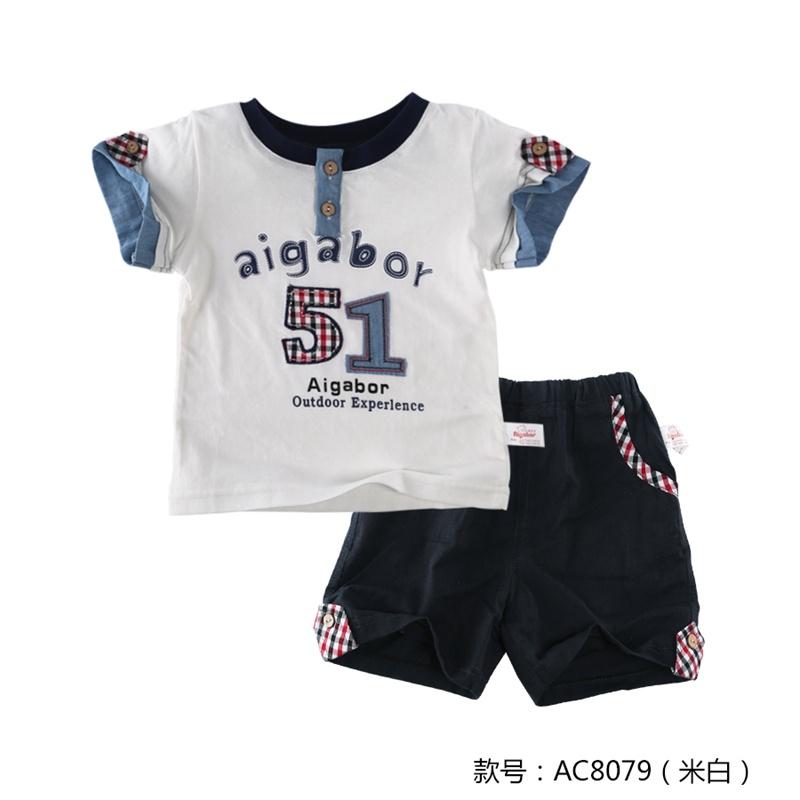 儿童服装男童短袖 宝宝衣服纯棉夏1-3岁男薄