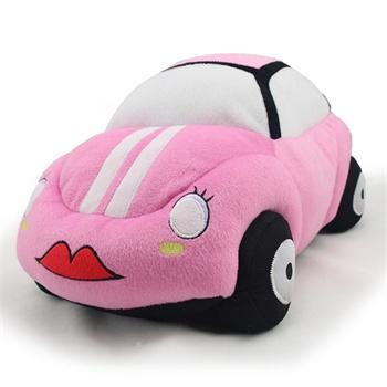 金洋创意毛绒玩具车 可爱车型抱枕 消防车警车小车卡丁车公仔玩偶