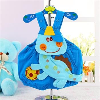 夏季宝宝造型哈衣可爱造型卡通柿子连体衣婴儿童短爬服纯棉连身衣