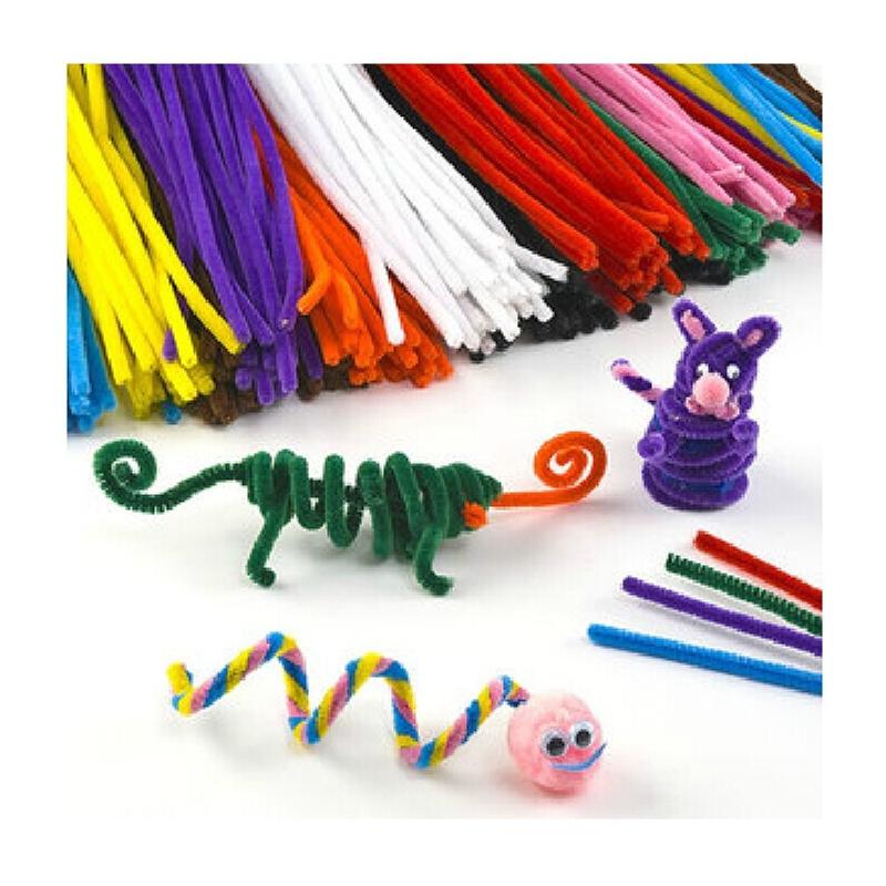 儿童益智手工编织毛条绒线绒丝diy工具扭扭棒