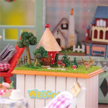 木棍手工制作房子图片
