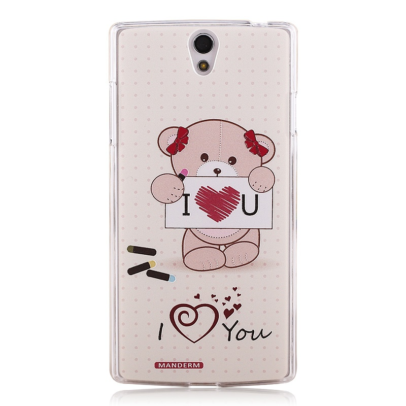 曼德美 oppo r827t手机套 r850卡通浮雕彩绘外硬壳_r827t 爱心小熊