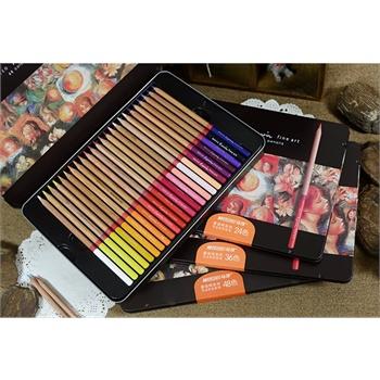 marco马可铅笔秘密花园专用彩色铅笔 雷诺阿48色油性彩色铅笔 专业