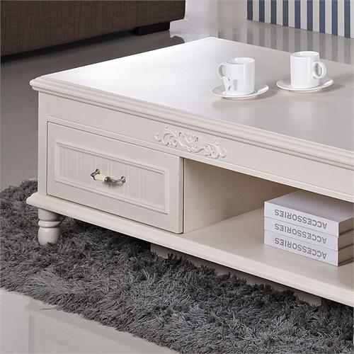 2米客厅茶几小户型烤漆桌子 欧式家具简欧边桌 小桌子