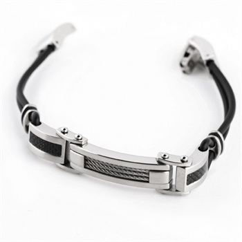 切(che)-316l國際標準鋼男式守護手鏈