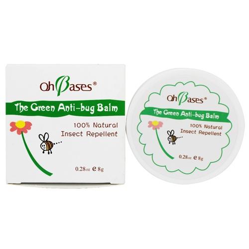 宝宝夏季必备 OhBases有机天然零化学万用驱蚊膏8g