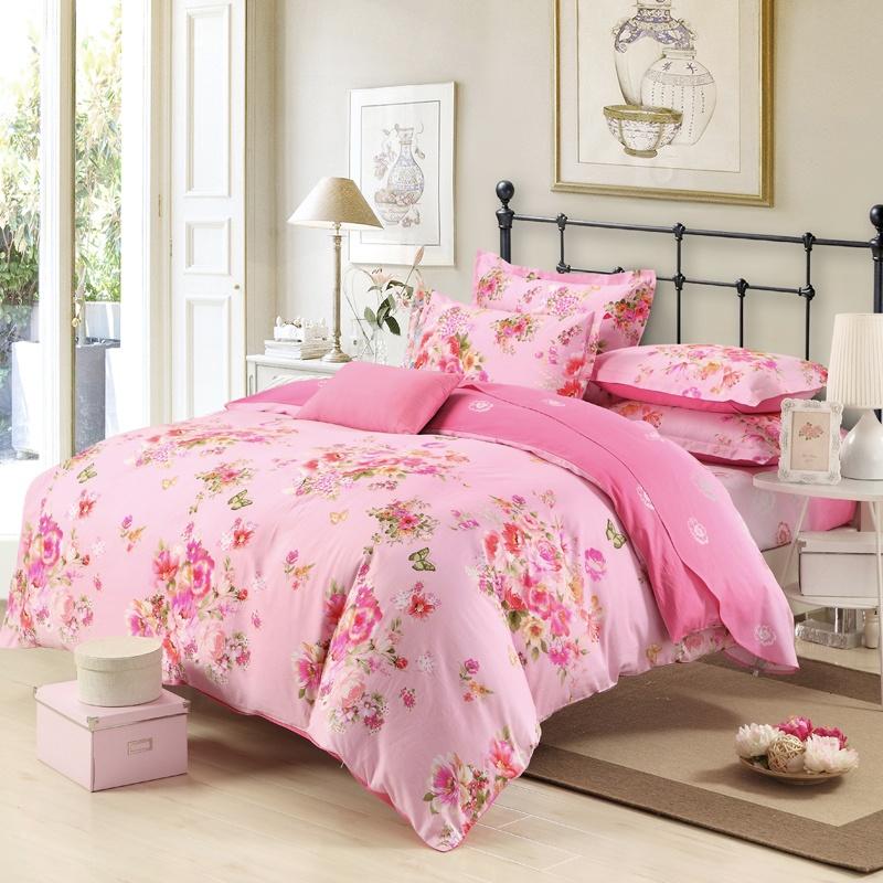 欧式床床单图片大花